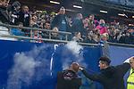 08.09.2017, Volksparkstadion, Hamburg, GER, 1.FBL, Hamburger SV vs RB Leipzig<br /> <br /> im Bild<br /> im Familienblock des Volksparkstadion steigt Rauch auf, L&ouml;schversuch, <br /> <br /> Foto &copy; nordphoto / Ewert