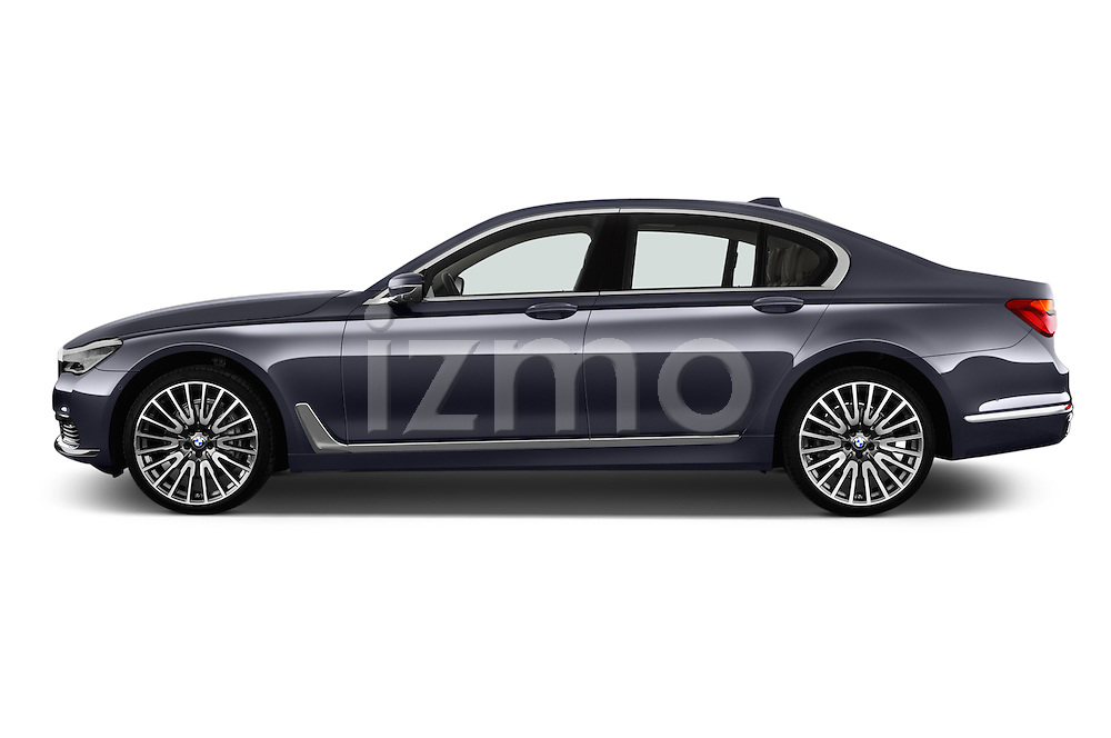 Car Driver side profile view of a 2016 BMW 7 Series 740i 4 Door Sedan Side View
