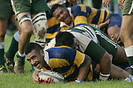 Jeff Maka scores his second half try. Counties Manukau Premier Club Rugby, Patumahoe vs Manurewa played at Patumahoe on Saturday 6th May 2006. Patumahoe won 20 - 5.