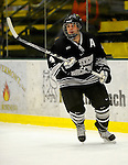 30 December 2007: Western Michigan University Broncos' defenseman Nathan Ansell, a Senior from Sarnia, Ontario, in action against the Holy Cross Crusaders at Gutterson Fieldhouse in Burlington, Vermont. The teams skated to a 1-1 tie, however the Broncos took the consolation game in a 2-0 shootout to win the third game of the Sheraton/TD Banknorth Catamount Cup Tournament...Mandatory Photo Credit: Ed Wolfstein Photo