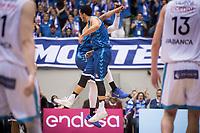 San Pablo Burgos John Jenkins and Corey Fisher celebrating the victory during Liga Endesa match between San Pablo Burgos and Monbus Obradoiro at Coliseum Burgos in Burgos, Spain. April 01, 2018. (ALTERPHOTOS/Borja B.Hojas) /NORTE PHOTO NORTEPHOTOMEXICO