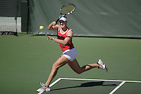 11 March 2007: Lejla Hodzic during Stanford's 5-2 win over Texas at the Taube Family Tennis Stadium in Stanford, CA.