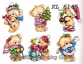 Interlitho-Theresa, CHRISTMAS ANIMALS, WEIHNACHTEN TIERE, NAVIDAD ANIMALES, paintings+++++,6 teddies,KL6145,#xa#