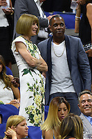 FLUSHING NY- AUGUST 29: Anna Wintour and Leslie Odom Jr. are seen during opening night ceremony on Arthur Ashe Stadium at the USTA Billie Jean King National Tennis Center on August 29, 2016 in Flushing Queens. Credit: mpi04/MediaPunch