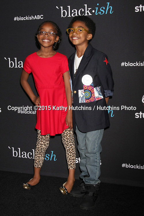 "LOS ANGELES - FEB 17:  Marsai Martin, Miles Brown at the ""Black-ish"" ATAS event at the Silver Screen Theater at Pacific Design Center on April 17, 2015 in Los Angeles, CA"