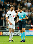 Tottenham's Jan Vertonghen protests his innocence as he is sent off during the champions league match at Wembley Stadium, London. Picture date 13th September 2017. Picture credit should read: David Klein/Sportimage