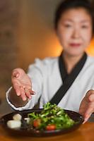 Europe/France/Bretagne/29/Finistère/Brest: Mika Pensec et ses salades Restaurant japonais : Hinoki,