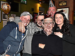 Jim Gerrard, Tina Fox, Ronan Lawless, Martin Teelan and Daragh Maguire enjoying the new years eve celebrations in The Thatch. Photo:Colin Bell/pressphotos.ie