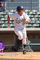 Francis Larson of the University of California at Irvine at therunning during a game against James Madison University at the Baseball at the Beach Tournament held at BB&T Coastal Field in Myrtle Beach, SC on February 28, 2010.