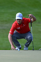 Zach Johnson (USA) lines up his putt on 13 during round 3 of the Arnold Palmer Invitational at Bay Hill Golf Club, Bay Hill, Florida. 3/9/2019.<br /> Picture: Golffile | Ken Murray<br /> <br /> <br /> All photo usage must carry mandatory copyright credit (© Golffile | Ken Murray)