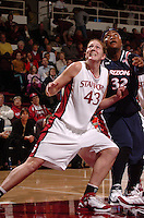 19 January 2006: Kristen Newlin during Stanford's 82-51 win against Arizona Wildcats at Maples Pavilion in Stanford, CA.