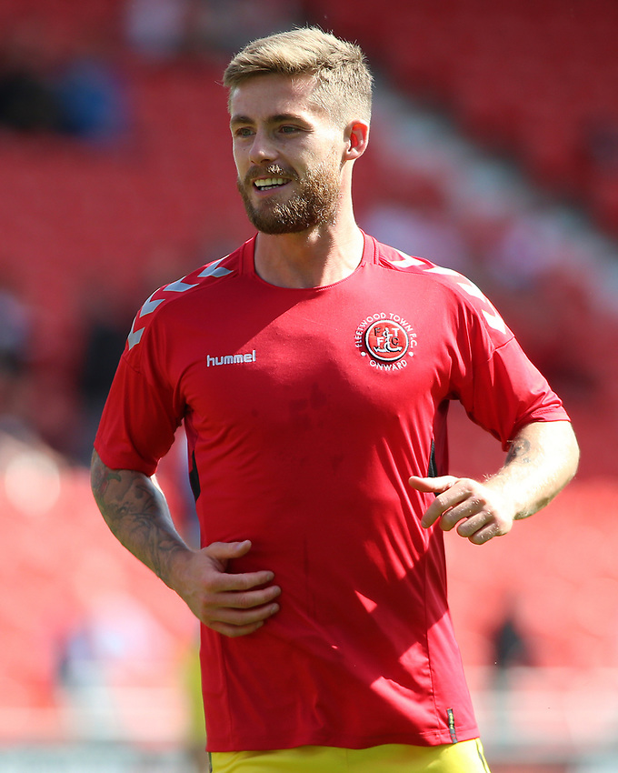 Fleetwood Town's Conor McAleny during the pre-match warm-up <br /> <br /> Photographer David Shipman/CameraSport<br /> <br /> The EFL Sky Bet League One - Doncaster Rovers v Fleetwood Town - Saturday 17th August 2019  - Keepmoat Stadium - Doncaster<br /> <br /> World Copyright © 2019 CameraSport. All rights reserved. 43 Linden Ave. Countesthorpe. Leicester. England. LE8 5PG - Tel: +44 (0) 116 277 4147 - admin@camerasport.com - www.camerasport.com