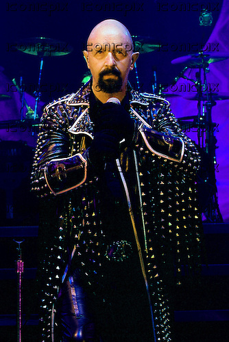 Judas Priest - vocalist Rob Halford - performing live at the Apollo Hammersmith, London UK - 17 Mar 2005.  Photo by: George Chin/IconicPix