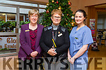 KGH Staff working through Christmas May Quirke, Divisional Nurse Manager and Midwife Charley O'Hanlon with (left) Mary Shea, Deputy Director of Nursing