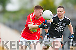 Cian Horgan East Kerry breaks away from Ardfert's defence during their Senior County Championship clash in Fitzgerald Stadium on Saturday