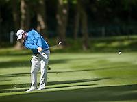 19.05.2015. Wentworth, England. BMW PGA Golf Championship. Practice Day.  Stephen Gallacher during the practice round of the 2015 BMW PGA Championship from The West Course Wentworth Golf Club