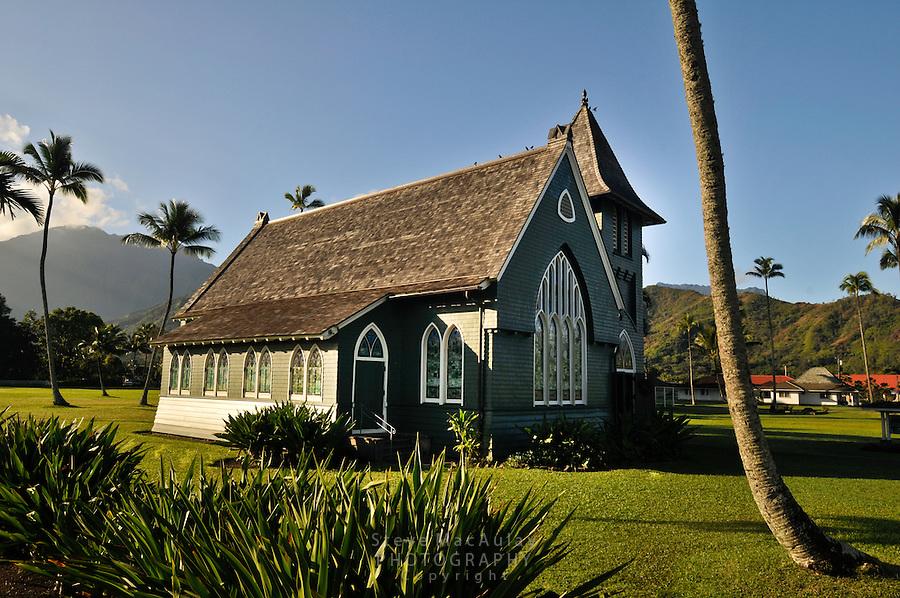 Wai'oli Hui'ia Church, Hanalei, Kauai, Hawaii