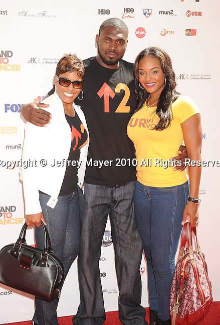 CULVER CITY, CA. - September 10: Terri Duncan, NBA athlete Jason Maxiell and wife Brandi Maxiell arrive at Stand Up To Cancer at Sony Pictures Studios on September 10, 2010 in Culver City, California.
