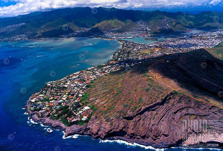 Aerial view of Hawaii Kai