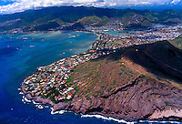 Aerial view of Hawaii Kai