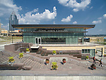 Carol Ann's Carousel House at the Smale Riverfront Park Aerial Photography   Sasaki Architects