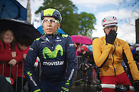 Nairo Quintana (COL/Movistar) at the start<br /> <br /> Giro d'Italia 2014<br /> stage 3: Armagh (NI) - Dublin (IRL) 187km