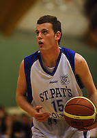 St Pats captain Jacob Ashby during the NZ Secondary Schools Basketball Championships match between Fraser High School and St Patricks College at Arena Manawatu, Palmerston North, New Zealand on Saturday 4 October 2008. Photo: Dave Lintott / lintottphoto.co.nz