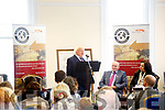 President Michael D.Higgins address a full house at the Valentia Island Cable Station on Saturday.
