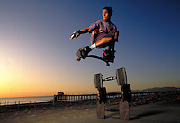 Skateboarder, Balboa Pier, Newport Beach, CA.Photo by Chris Covatta