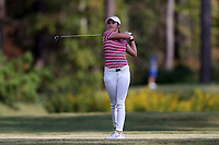 CHAPEL HILL, NC - OCTOBER 13: Brooke Matthews of the University of Arkansas tees off at UNC Finley Golf Course on October 13, 2019 in Chapel Hill, North Carolina.