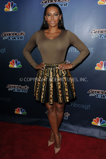WWW.ACEPIXS.COM<br /> September 10, 2014 New York City<br /> <br /> Mel B attending the 'America's Got Talent' post show red carpet at Radio City Music Hall in New York City on September 10, 2014.<br /> <br /> By Line: Kristin Callahan/ACE Pictures<br /> ACE Pictures, Inc.<br /> tel: 646 769 0430<br /> Email: info@acepixs.com<br /> www.acepixs.com<br /> Copyright:<br /> Kristin Callahan/ACE Pictures
