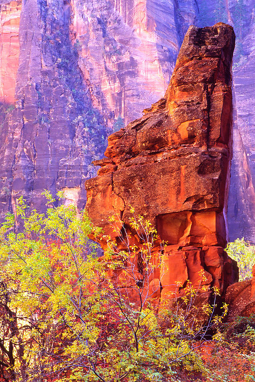 Temple of Sinwava is located in Zion's river canyon
