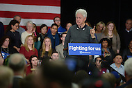 Alexandria, VA - February 24, 2016: Former U.S. President Bill Clinton speaks to Hillary Clinton supporters during a 'Hillary for Virginia' campaign event at the Durant Art Center in Alexandria, VA, February 24, 2016.  (Photo by Don Baxter/Media Images International)