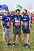 Scouting for Girls at the start of the 2017 London Marathon on Blackheath Common, London, UK. <br /> 23 April  2017<br /> Picture: Steve Vas/Featureflash/SilverHub 0208 004 5359 sales@silverhubmedia.com