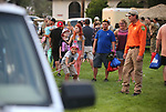 Mike Bennett, with Carson City Sheriff's Search and Rescue, watches Noah Ramos, 8, pull an SUV during the 16th annual National Night Out event, hosted by the Carson City Sheriff's Office, in Carson City, Nev., on Tuesday, Aug. 7, 2018.<br /> Photo by Cathleen Allison/Nevada Momentum