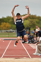 SAN ANTONIO, TX - MARCH 24, 2015: The University of Texas at San Antonio Roadrunners host the UTSA Invitational Track & Field Meet at the UTSA Park West Athletics Complex. (Photo by Jeff Huehn)