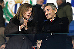 CD Leganes' President Victoria Pavon Palomo (l) and Celta de Vigo's President Carlos Mourino Atanes during La Liga match. January 28,2017. (ALTERPHOTOS/Acero)