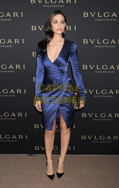 WEST HOLLYWOOD, CA- FEBRUARY 25: Actress Emmy Rossum arrives at the BVLGARI 'Decades Of Glamour' Oscar Party Hosted By Naomi Watts at Soho House on February 25, 2014 in West Hollywood, California.<br /> CAP/ROT/TM<br /> &copy;Tony Michaels/Roth Stock/Capital Pictures