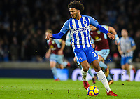Isaiah Brown of Brighton & Hove Albion (37) In action  during the EPL - Premier League match between Brighton and Hove Albion and Burnley at the American Express Community Stadium, Brighton and Hove, England on 16 December 2017. Photo by Edward Thomas / PRiME Media Images.