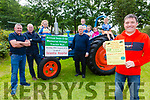 The annual Sean Ó Sé Memorial Vintage Tractor Run is all set to take place this Sunday the 11th August from the Fair Field in Cahersiveen departing at 12:30 pictured here l-r; Mike O'Connor, Brendan O'Sullivan, Clara O'Sullivan, Jackie O'Sullivan, Sarah O'Connor, Louise O'Connor, Naomi O'Sullivan, Colman & Cormac Lynch.