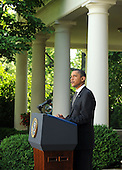United States President Barack Obama makes a statement on the U.S. Senate vote to end debate on a financial regulation bill in the Rose Garden of the White House in Washington on Thursday, May 20, 1010.   .Credit: Roger L. Wollenberg - Pool via CNP