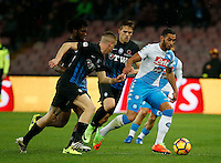 Faouzi Ghoulam  during the  italian serie a soccer match,between SSC Napoli and Atalanta      at  the San  Paolo   stadium in Naples  Italy , February 25, 2017