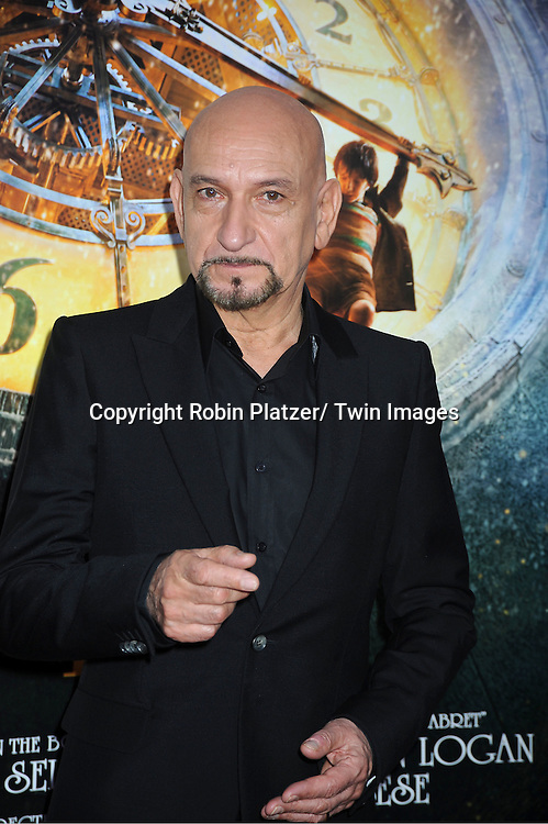 "Sir Ben Kingsley attend The World Premiere of ""Hugo in 3D"" on November 21, 2011 at The Ziegfeld Theatre in New York City."