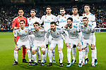 Real Madrid squad pose for team photo during the Europe Champions League 2017-18 match between Real Madrid and Borussia Dortmund at Santiago Bernabeu Stadium on 06 December 2017 in Madrid Spain. Photo by Diego Gonzalez / Power Sport Images