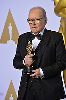 Ennio Morricone at the 88th Academy Awards at the Dolby Theatre, Hollywood.<br /> February 28, 2016  Los Angeles, CA<br /> Picture: Paul Smith / Featureflash