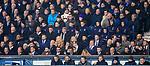 05.02.2020 Rangers v Hibs: Florian Kamberi, Jermain Defoe, Ryan Jack and players in the stand