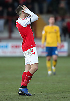 Fleetwood Town's Ched Evans rues a near miss<br /> <br /> Photographer Andrew Kearns/CameraSport<br /> <br /> The EFL Sky Bet League One - Fleetwood Town v Charlton Athletic - Saturday 2nd February 2019 - Highbury Stadium - Fleetwood<br /> <br /> World Copyright © 2019 CameraSport. All rights reserved. 43 Linden Ave. Countesthorpe. Leicester. England. LE8 5PG - Tel: +44 (0) 116 277 4147 - admin@camerasport.com - www.camerasport.com
