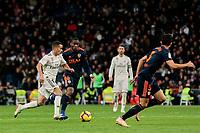 Real Madrid's Lucas Vazquez and Valencia CF's Geoffrey Kondogbia during La Liga match between Real Madrid and Valencia CF at Santiago Bernabeu Stadium in Madrid, Spain. December 01, 2018. (ALTERPHOTOS/A. Perez Meca) /NortePhoto NORTEPHOTOMEXICO