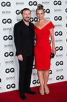Ricky Gervais and Jane Fallon arrives for the GQ Men Of The Year Awards 2016 at the Tate Modern, London