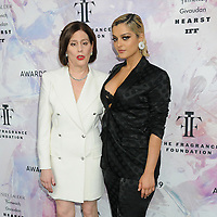 05 June 2019 - New York, New York - Linda G. Levy and Bebe Rexha. 2019 Fragrance Foundation Awards held at the David H. Koch Theater at Lincoln Center. Photo Credit: LJ Fotos/AdMedia